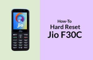 Hard Reset Jio F30C